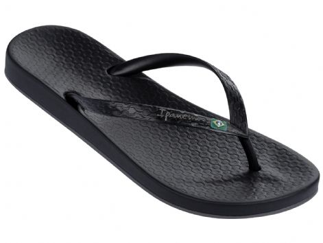 Ipanema Womens Anatomica Brilliant Black Flip Flops
